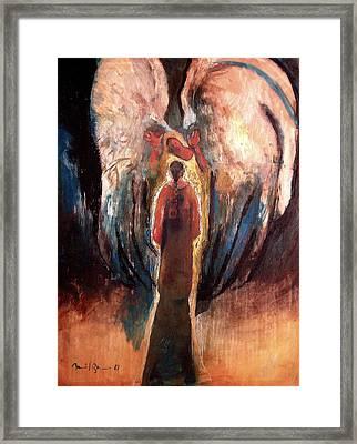 the Announciation Framed Print by Daniel Bonnell