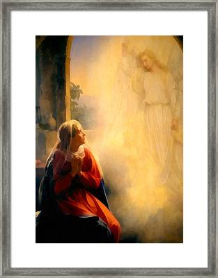 The Annunciation Framed Print by Carl Bloch