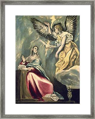 The Annunciation Framed Print by Celestial Images