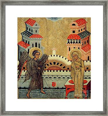 The Annunciation Framed Print by Fedusko of Sambor