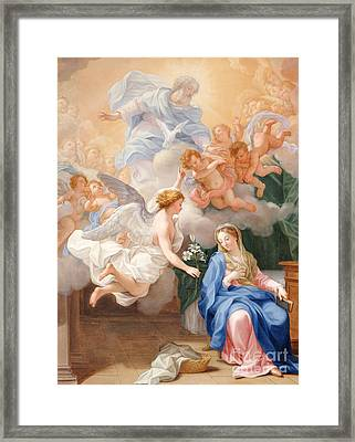 The Annunciation Framed Print by Giovanni Odazzi