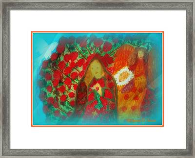 The Annunciation Framed Print by Maryann  DAmico