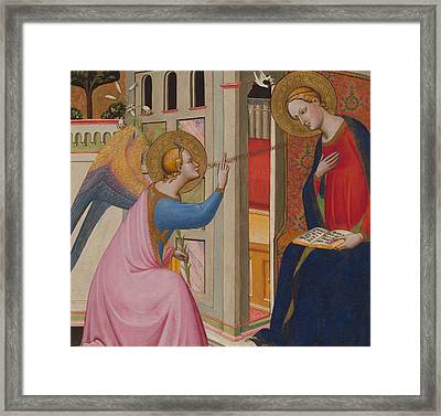 The Annunciation Framed Print by Master of Saint Verdiana