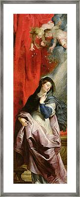 The Annunciation Framed Print by Peter Paul Rubens