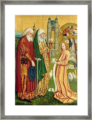 The Annunciation To Joachim And Anne, From The Dome Altar, 1499 Framed Print by Absolon Stumme