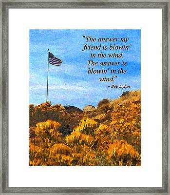 The Answer Is Blowing In The Wind Framed Print by Glenn McCarthy Art and Photography