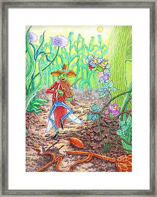 The Ant And The Grasshopper Framed Print by Teodora Reytor