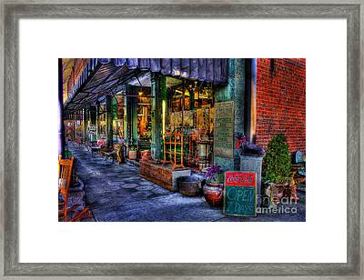 Greensboro Antique Mall Store Front In Greensboro Georgia Framed Print by Reid Callaway
