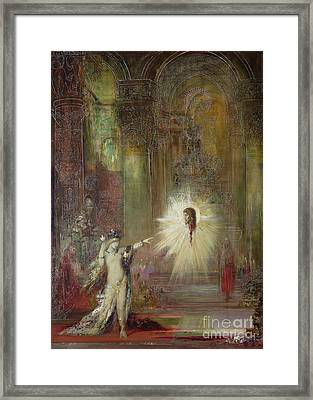 The Apparition Framed Print by Gustave Moreau