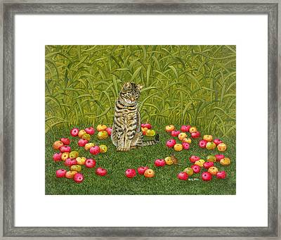 The Apple Mouse Framed Print by Ditz
