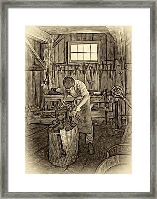 The Apprentice 2 - Paint Sepia Framed Print by Steve Harrington