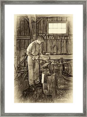 The Apprentice - Paint Sepia Framed Print by Steve Harrington