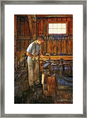The Apprentice - Paint Framed Print by Steve Harrington