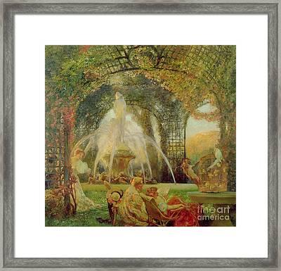 The Arbor Framed Print by Gaston De la Touche