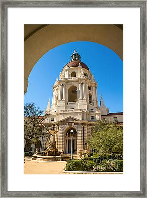 The Arch - Pasadena City Hall. Framed Print by Jamie Pham