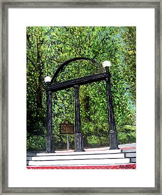 The Arch At Uga Framed Print by Katie Phillips