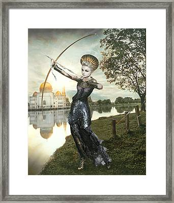 The Archer Framed Print by Vic Lee