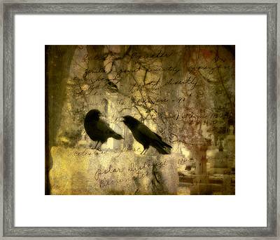 The Argument Framed Print by Gothicolors Donna Snyder