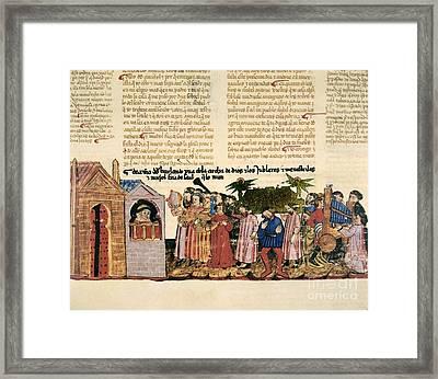 The Ark Of The Covenant, 1430 Artwork Framed Print by Patrick Landmann