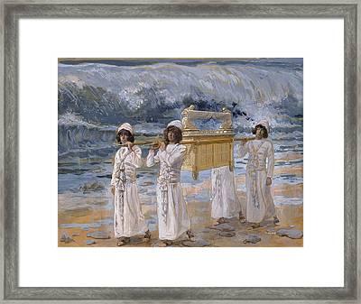 The Ark Passes Over The Jordan Framed Print by James Tissot