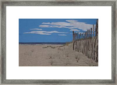The Art Of Fencing Framed Print by Anita Jacques