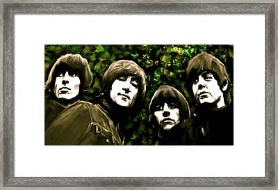 The Art Of Sound  The Beatles Framed Print by Iconic Images Art Gallery David Pucciarelli