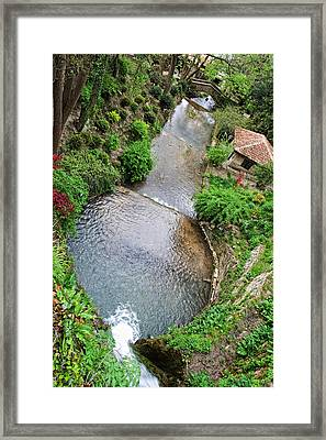 The Artificial River From Balchik Botanical Garden Framed Print by Cristina-Velina Ion