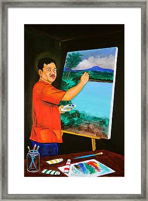 The Artist Framed Print by Cyril Maza