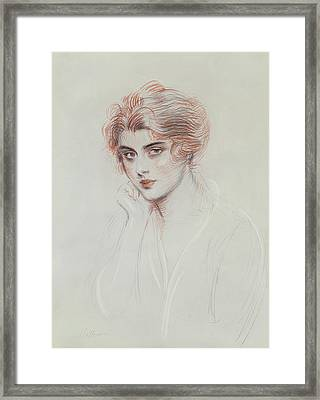 The Artists Daughter Framed Print by Paul Cesar Helleu