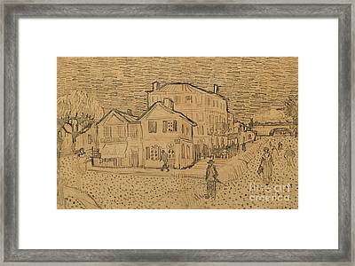 The Artists House In Arles Framed Print by Vincent Van Gogh