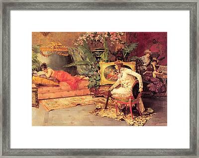 The Artists Model Framed Print by Alvarez Catala