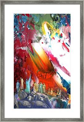 The Ascencion Of Jesus Framed Print by Miki De Goodaboom