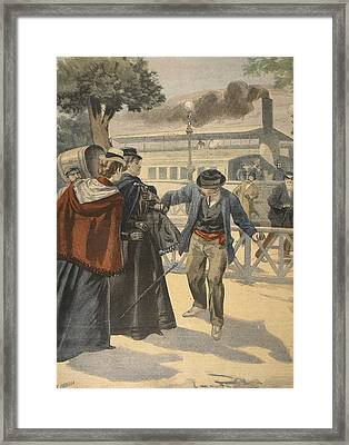 The Assassination Of The Empress Framed Print by French School
