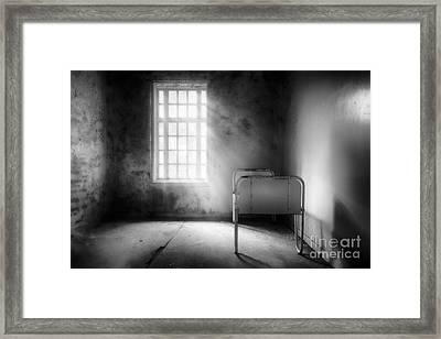 The Asylum Project - Empty Bed Framed Print by Erik Brede