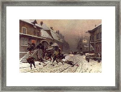 The Attack At Dawn Framed Print by Alphonse Marie De Neuville
