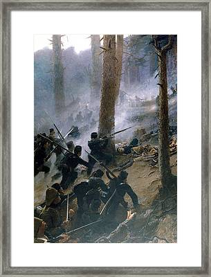The Attack On The Peiwar Kotal Framed Print by Vereker Monteith Hamilton