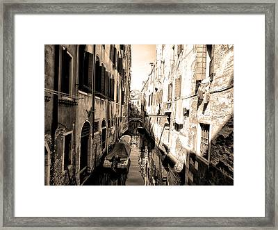 The Back Canals Of Venice Framed Print by Bill Cannon