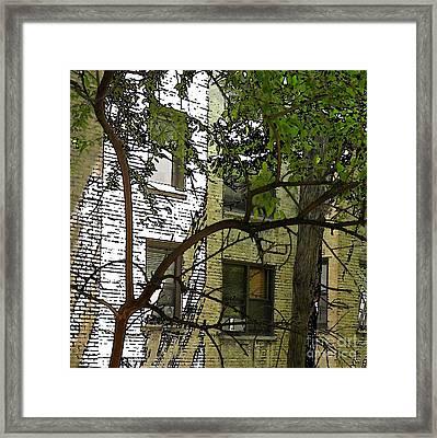 The Back Wall Framed Print by Sarah Loft