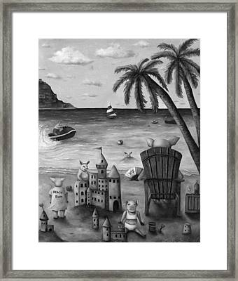 The Bacon Shortage In Bw Framed Print by Leah Saulnier The Painting Maniac