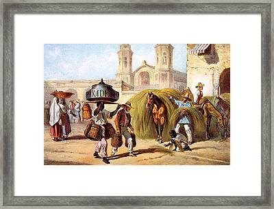 The Baker And The Straw Seller, 1840 Framed Print by Federico Mialhe