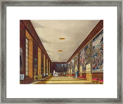 The Ball Room, Hampton Court, From The Framed Print by Richard Cattermole