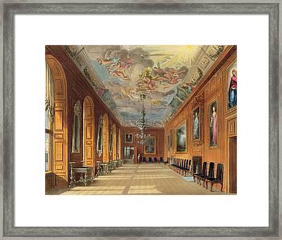 The Ball Room, Windsor Castle Framed Print by Charles Wild