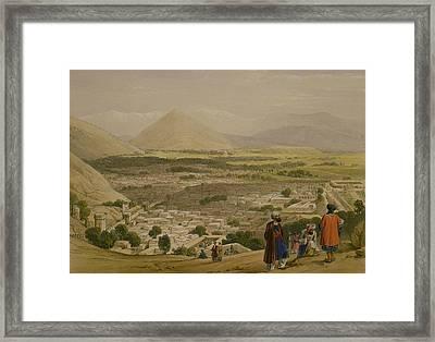 The Balla Hissar And City Of Caubul Framed Print by James Atkinson