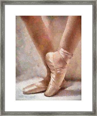 The Ballerina's Shoes Framed Print by Georgiana Romanovna