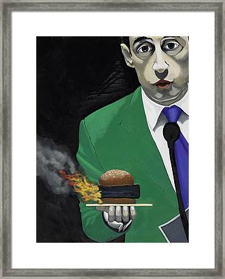 The Banlieu Burger Framed Print by Marcella Lassen
