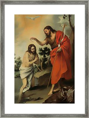 The Baptism Of Christ Framed Print by Mountain Dreams