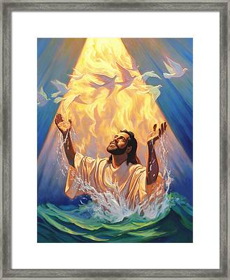 The Baptism Of Jesus Framed Print by Jeff Haynie