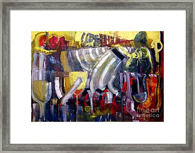 The Bar Scene Framed Print by James Lavott