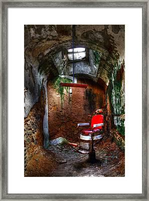 The Barber Chair Framed Print by David Simons