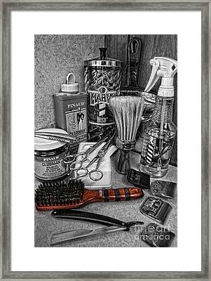 The Barber's Brush Framed Print by Lee Dos Santos